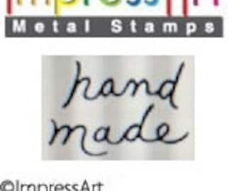 Design Stamp - HAND MADE - 6mm stamped image by ImpressArt -  includes How to Stamp Metal tutorial