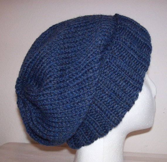 Wool Ski Hat Slouchy Knit Beanie Knitted Hipster Toque