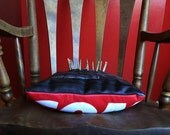 Decorative pillow made from bike tubes and valves - Inner Tubes - Pillow