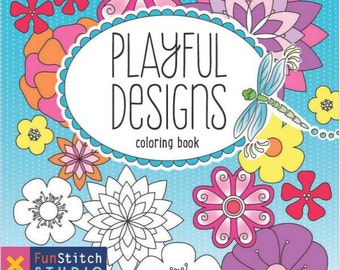 Playful Designs Coloring Book by Patty Young