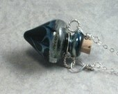 Galaxy --- Lampwork Poison Bottle Necklace