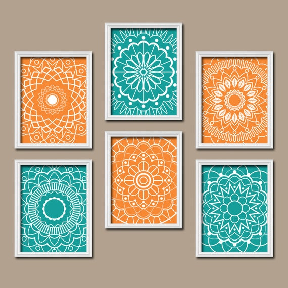 Flower Wall Art Canvas Or Print Kitchen Wall Art Bedroom: Items Similar To Turquoise Wall Art Kitchen Wall Art