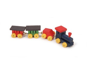 Miniature Wooden Train