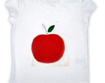 Girl's Apple T-Shirt / Childrens Clothes / Tee Shirt / Baby Shirt