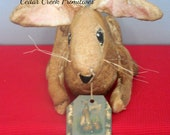 Primitive Folk Art Bunny Rabbit Made To Order