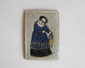 tiny storyteller - a miniature embroidery artwork - portrait in stitch