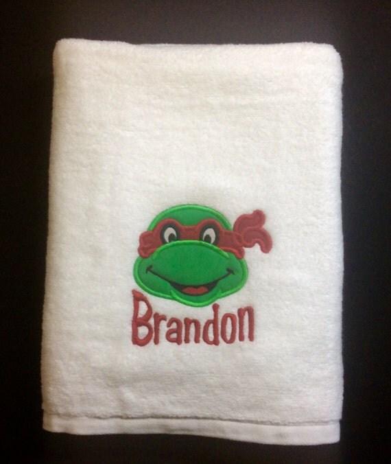 BATH TOWEL Ninja Turtle Personalized Towel