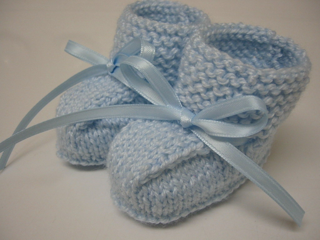 Baby Boy Booties Hand Knitted Booties Newborn Booties Baby