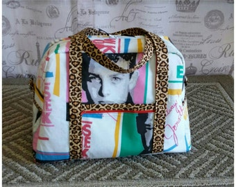 NKOTB New Kids On The Block Travel Carry On Luggage Weekender Bowler Bag Cruise Cheetah Print