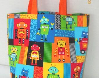 Robots Purse/Gift Bag/Tote/Easter Basket
