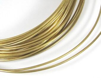 Red Brass wire, Big Round gold wire, 10 gauge wire, 10 ft of 10 gauge, cuff wire, bangle wire, gold wire, thick brass wire, red brass