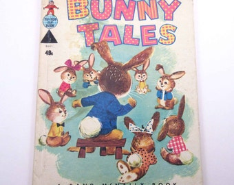 Bunny Tales Vintage 1950s Rand McNally Children's Book by Peggy Burrows Illustrated by Helen Endres and William Neebe
