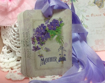 Mothers Day Gift Tags - Mothers Day Greeting Card