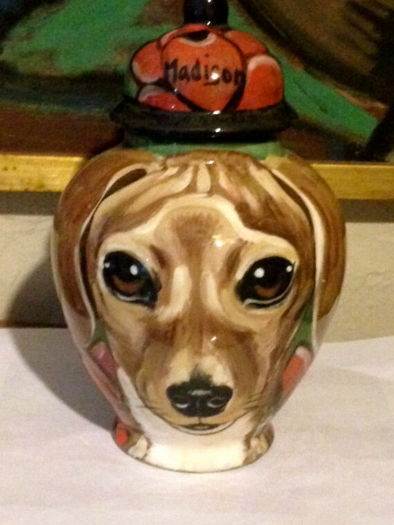 Custom small medium PET URN for dogs and cats SMALL dachshund or any smaller breed