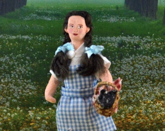 Wizard of Oz Doll Miniature Dorothy With Toto Art Collectible