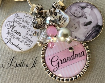 GRANDMA gift, PHOTO pendant, PERSONALIZED gift, Grandmother, Mimi, Nana Grandma necklace, Gifts for Grandma, Gifts for Mom Mother's Day gift