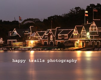 Boathouse Row Philadelphia Color Print Photograph - Ready for Framing - Greeting Card