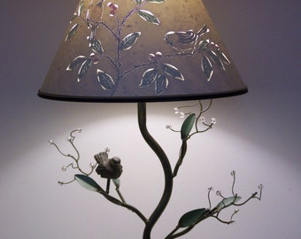 Bird and Berry Table Lamp #2