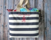 Maid of Honor Gifts - Maid of Honor Bag - Bridesmaid Bag - Maid of Honor Tote - Nautical Wedding