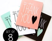 Thank You Card Set - Funny Thank You Card - Set of 8
