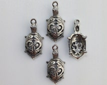 Fillagree Turtle Charms 26x13mm (4) gyb022A