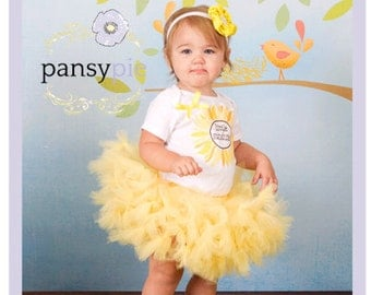 Little Sunshine Birthday Sunshine Tutu Set Toddler Yellow Dress Petti Tutu Dress 2T 3T 4T