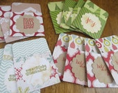 Christmas Gift Card Holders. Set of 4. Holiday. Winter. Joy. Gift Wrap. Christmas Tree. HoHoHo. Merry and Bright