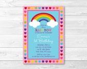 Cute Rainbow Birthday Inv...