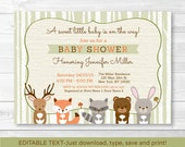 Woodland Baby Shower Invi...