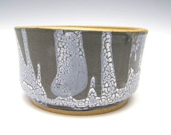 Ceramic cactus planter bonsai planter  succulent pot herb plant planter Black White stoneware succulent planter 6 x 3 1/2