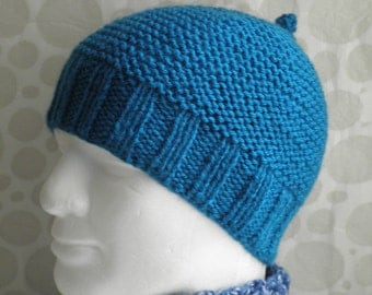 Beanie Knitting Pattern Straight Needles : EASY BEANIE KNITTING PATTERN STRAIGHT NEEDLES   KNITTING PATTERN