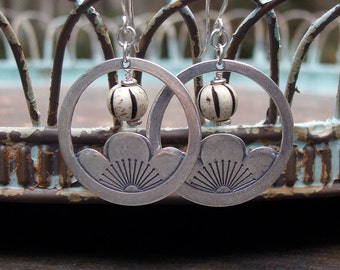 Japanese Lantern / Cherry Blossom earrings