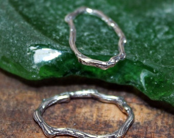 Twig Links Oval Sterling Silver 002