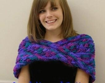 Immediate Download - PDF Crochet Pattern -Jewelbox Moebius Infinity Wrap - Reversible