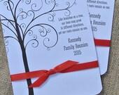 Family Reunion Favors - Custom Fans - Family Reunion Favors - Personalized Hand Fans Favors For Family Reunion