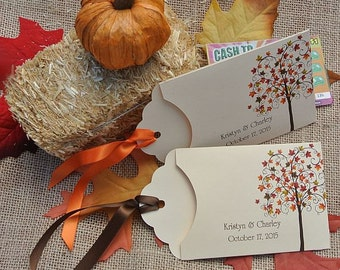 Lottery Ticket Envelopes |  Fall Wedding Favors