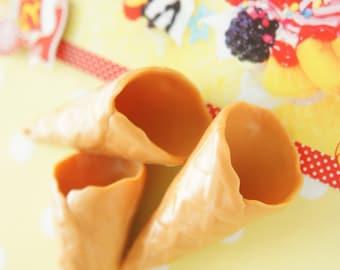 3 pcs Waffle Cone for sillicone cream  (22mm28mm)