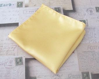 Pocket Square Gold Yellow Hankie