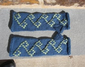 Blue and Green Arm Warmers