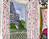 Pink Chair Paris View