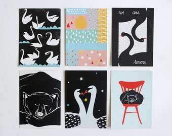 Set of six postcards #3