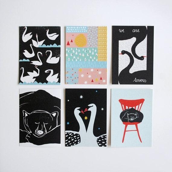 Set of six postcards #3