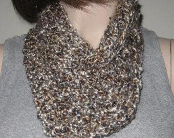 Crochet Homespun Infinity Scarf Cowl in Shaker