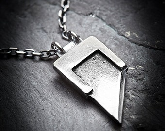 HEADS WILL ROLL  guillotine blade necklace