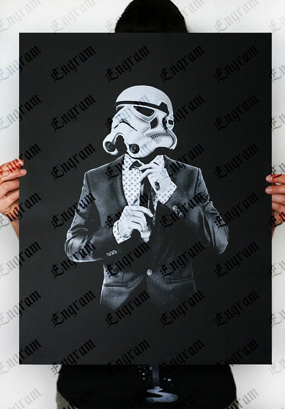 Storm Trooper Smart trooper -  Star Wars Art Screen printed poster ( Storm trooper poster, Star Wars poster )