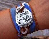 Boho Wrap Bracelet, Silk Wrap Bracelet by HappyGoLicky Jewelry, Boho Jewelry