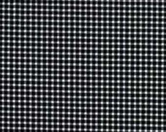 De-Stash Sale- Michael Miller - Mini Mikes Tiny Gingham, Black and White-  1/2 yrd
