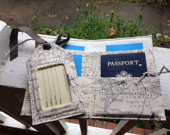 Passport cover/ luggage tag/Map/natural/family passport holder