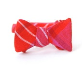 red & magenta freestyle bow tie for the little guy