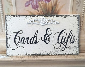 CARDS & GIFTS - Wedding Sign - Self standing 9 x 5